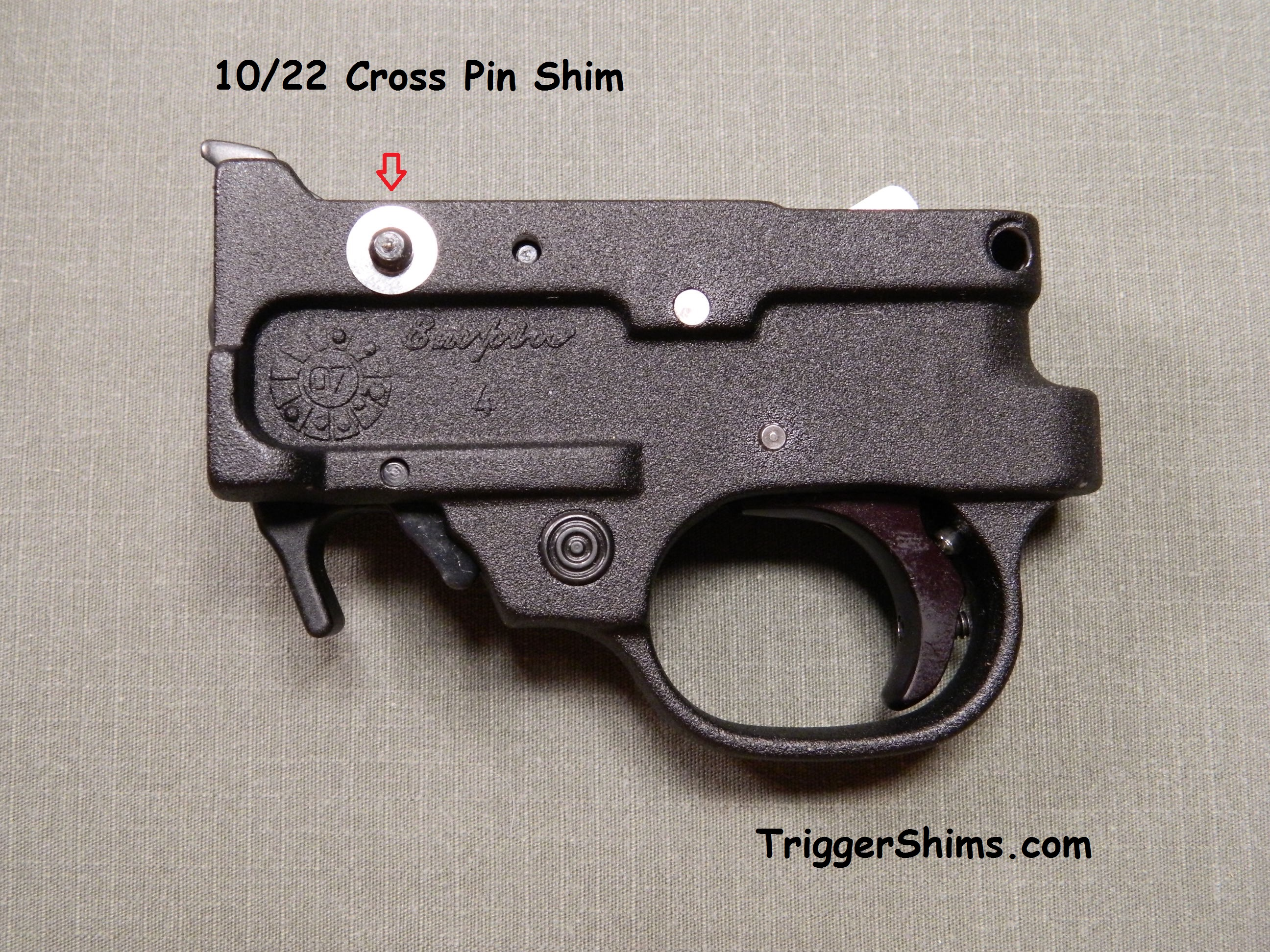 10/22 Cross Pin Shim